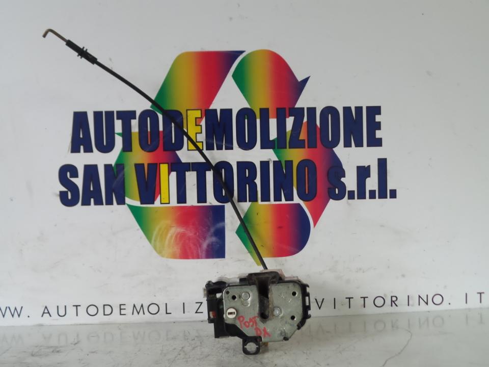 SERRATURA PORTA POST. BLOCCAGGIO ELETTRICO DX. FIAT PANDA (2Q) (09/03>09/09<)