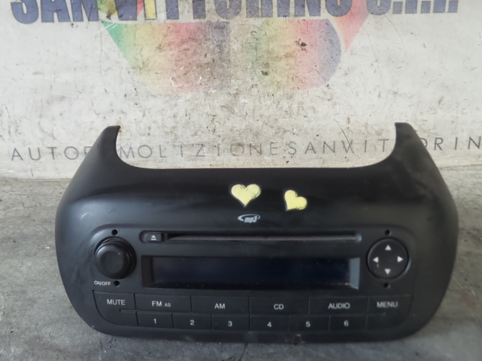 AUTORADIO C/ANIMAZIONE GAMMA+MP3 PEUGEOT BIPPER (10/08>)